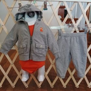 🐶9m fox baby boy sweatsuitand onesie🐶